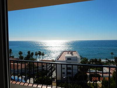Photo for Penthouse apartment with 2 beds. 2 balconies and a panoramic view of the Mediterranean Sea, AC