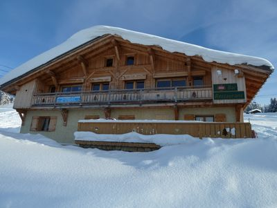Photo for 2 apartments for 16 people in chalet in the heart of the slopes