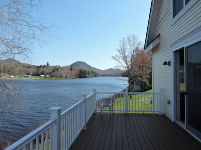 View from the front deck to the mountains