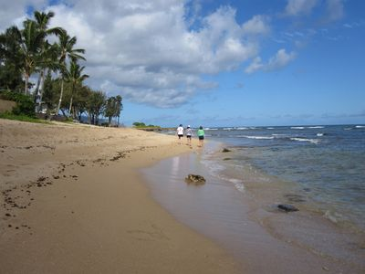 Photo for Haleiwa Beachfront Condo with Privacy - Now with Bedroom AC