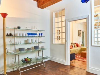 Photo for Spacious, Comfortable & Calm appart. w / Parking in the Heart of Historic Center