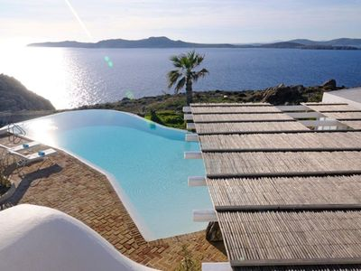 Photo for Villa in Mykonos with a great sunset overlooking the Aegean Sea