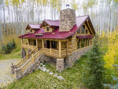 Photo for Colorado Luxury Log Home of your dreams in the aspens off the grid