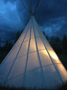 Photo for Sleep In Comfort-Tipi Style, Under The Stars- Stay Warm Around The Fire -Pit