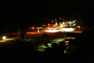 Night view from the back deck of town of Packwood