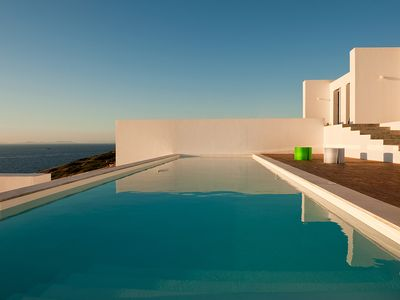 Photo for Luxury villa with private pool, sea front, walking distance to the beach