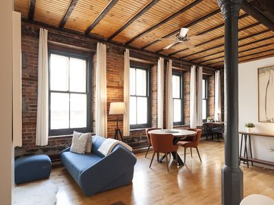 Photo for Charming historic loft in the heart of the Old Montreal