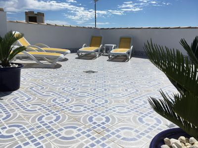 Our private roof terrace.