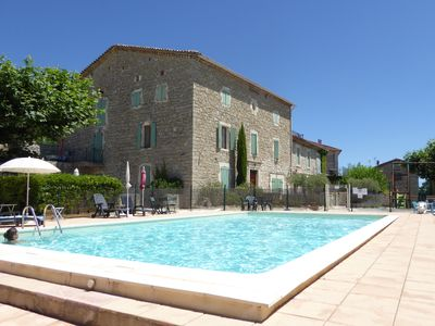Photo for Large apartment in 19th century village house - shared pool, WiFi & Sat TV