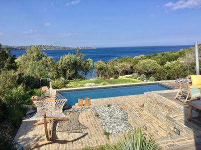 Photo for Beautiful sea view villa Porto Vecchio with pool and sea access