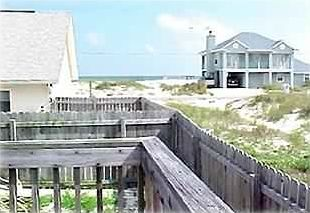 View from the large back deck towards the Gulf of Mexico--100 yards away