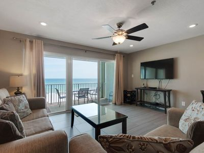 Photo for Modern Gulf Front Condo! Sleeps 6, Pools Onsite, Nearby Activities, Shops, & Restaurants!