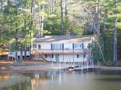Photo for Waterfront home with private sandy beach & large U dock.