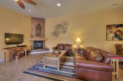 Comfortable living area, nicely decorated in a Southwest theme!