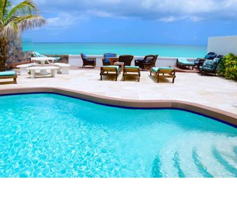 Photo for Oceanfront Luxury Home. Private Pool & Beach. Bahamas Central Location.