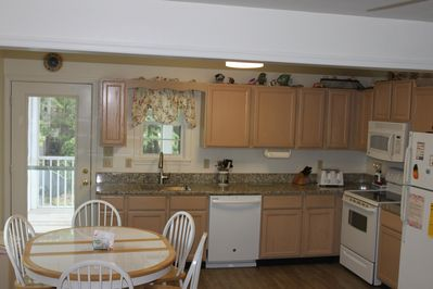 Kitchen with new granite countertops