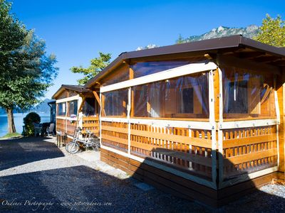 Photo for Luxury chalet on the lugano lake camping international porlezza