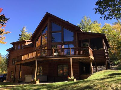 Photo for The Lodge at Juniper Hill!  A beautiful log home opposite Whiteface Mountain.