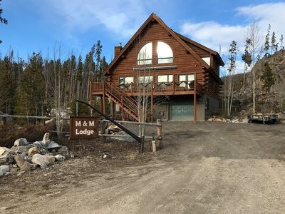 Photo for Gorgeous and large log home in town with incredible views of Grand Lake!