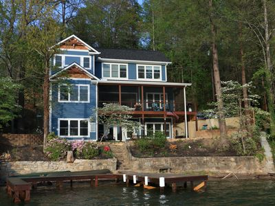 Photo for NEW HOUSE ~ Private Beach with Dock - Sleeps 12 ~ Pontoon Rental Option