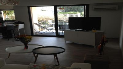 Photo for Pointe Rouge flat of standing 63m2, swimming pool, terrace and garden