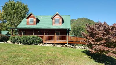 Photo for Elk Horn Ridge is a lovely log home, accommodates 6, WiFi, AC, easy access.