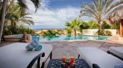 Photo for Ocean View Villa with Pool, Jacuzzi, spacious Indoor/Outdoor areas. Close to Beach & Downtown