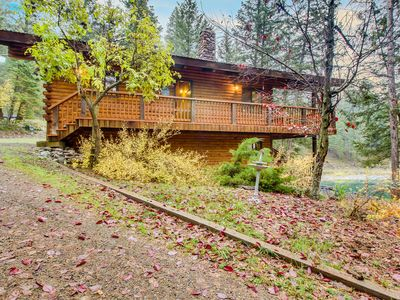 Photo for Serene, two-level, lakefront chalet with two decks, great views, updated kitchen