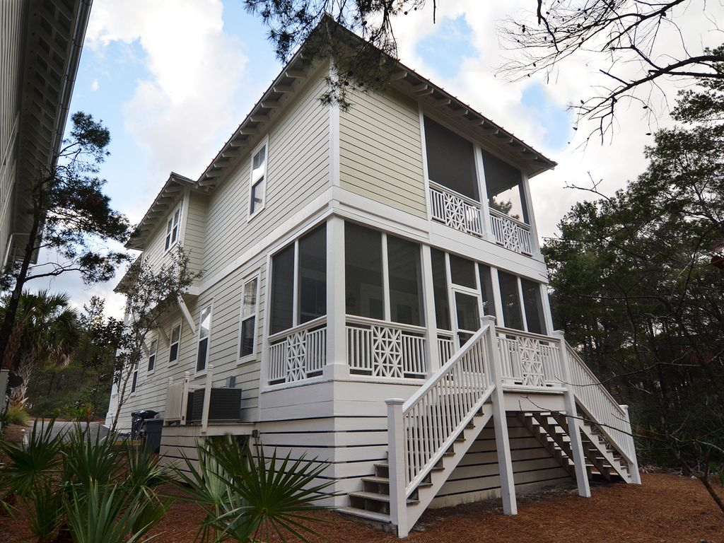 Gorgeous southern style beach house panama city beach for Southern homes florida