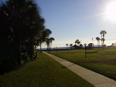 Photo for Three Bedroom, Three Bathroom Condominium Mere Footprints to the Beach