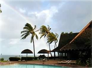 Rainbow at pool, only 200 feet from condo, with dophins and whales in distance