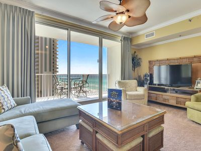 Photo for GORGEOUS CONDO ON THE GULF W/ TWO RESERVED PARKING SPOTS!!