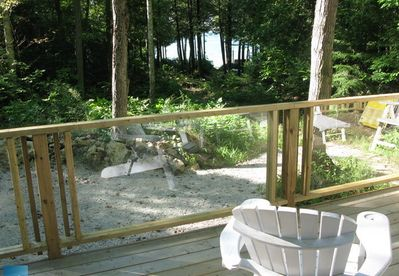 View of lake from deck