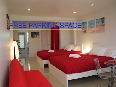 Photo for Studio in the heart of South Beach with Free Parking! Starting at $ 75 / night