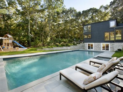 Photo for Luxury Water Mill Modern Retreat with Tennis, Pool, Minutes to Ocean Beaches