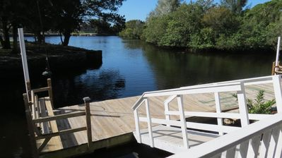 Floating Dock and Cow Creek