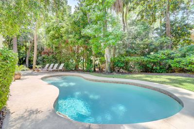 Private pool and lush landscape make the outdoors enjoyable  and fun!