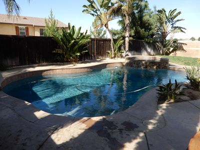 Photo for Excellent large 4 bedroom home with pool and spa in quiet neighborhood