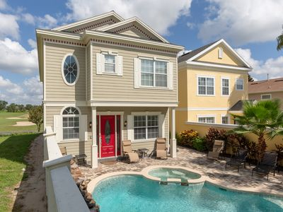 Photo for Liberty View | Luxury Pool Home with Golf Course Views & Games Room - Minutes to Disney!