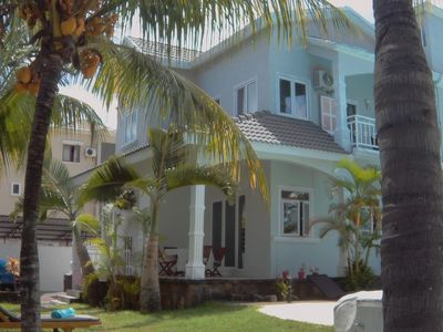 Photo for Ground floor in pretty villa 3 minutes from the beach of Trou aux Biches