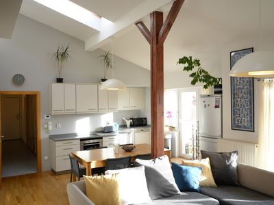 Sunny attic apartment in Prague 6, close to the centre and the airport