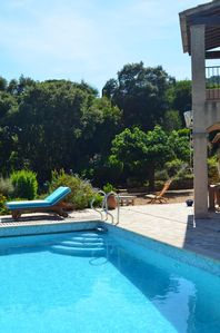 Photo for Single villa with pool and view to the sea