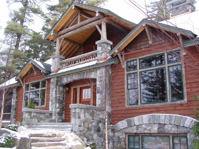Photo for Lake Placid, NY- Mirror Lake -Whiteface Mt - heated floors, fireplaces, porches