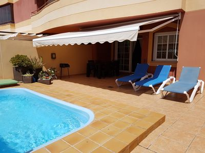Photo for Spacious modern apartment with large terrace and private pool, long & short lets