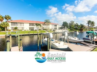 Photo for Amazing GULF ACCESS  2-bedroom w/ Heated pool and Boat Slip!