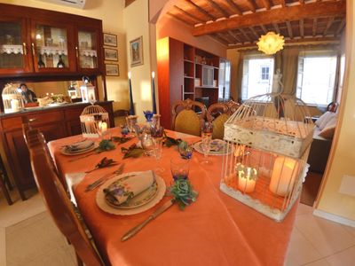 Photo for Nice apartment for 7 people with A/C, WIFI, TV and panoramic view, close to Pisa