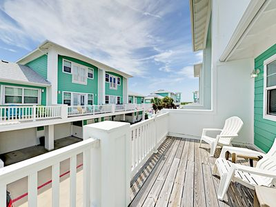 Balcony - This imaginative 3BR/3.5BA Port Aransas townhome will delight your group of up to 6 guests!