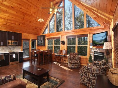 Photo for Mountain Elegance, 2 Bedrooms, Sleeps 8, Theater, Hot Tub, Pool Table