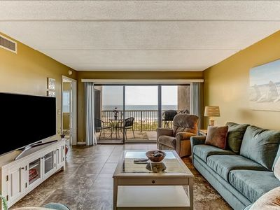 4th Floor remodled  2 Bed/2 Bath Oceanfront condo sleeps 6.   W/D, pool, tennis and private fishing pier!