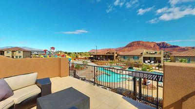 Photo for Aug and Sept Availability! Water Park View * Ping Pong * Bikes * BBQ